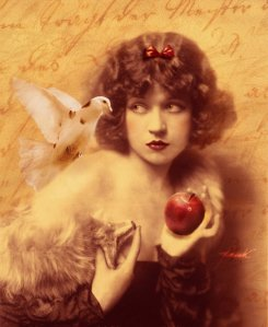 apple-bird-vintage-woman-Favim.com-170466